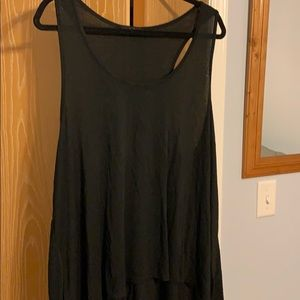 Women's high low swim suit cover up or tank top